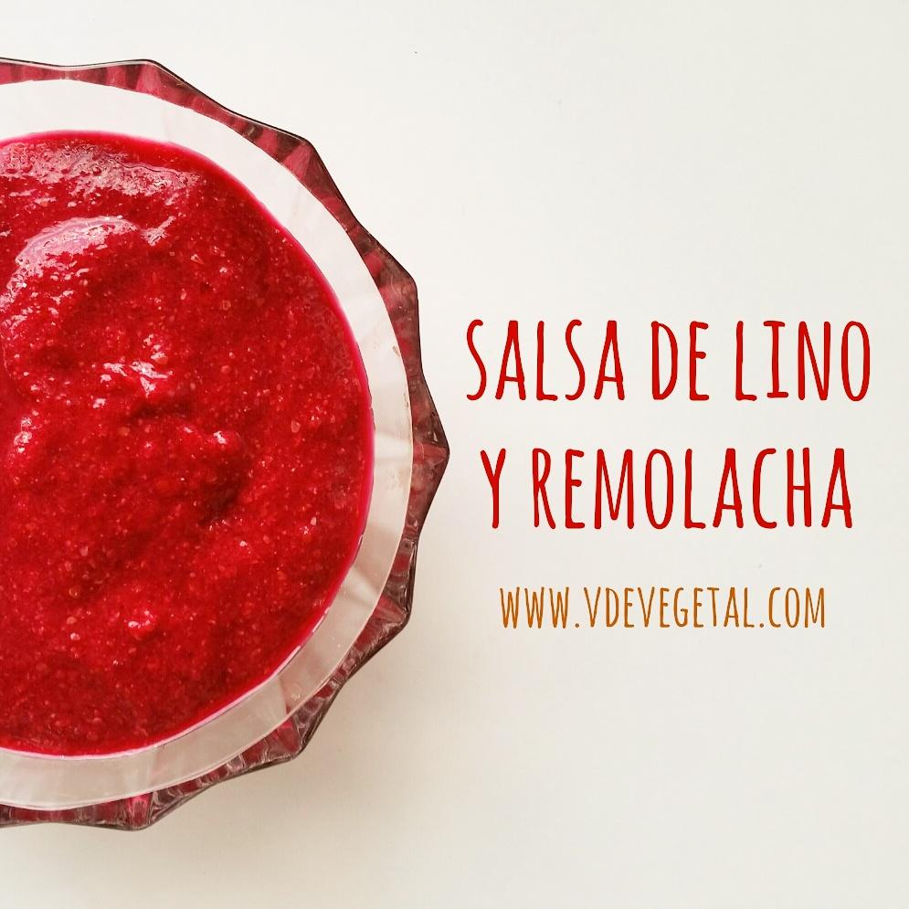 salsa de lino y remolacha