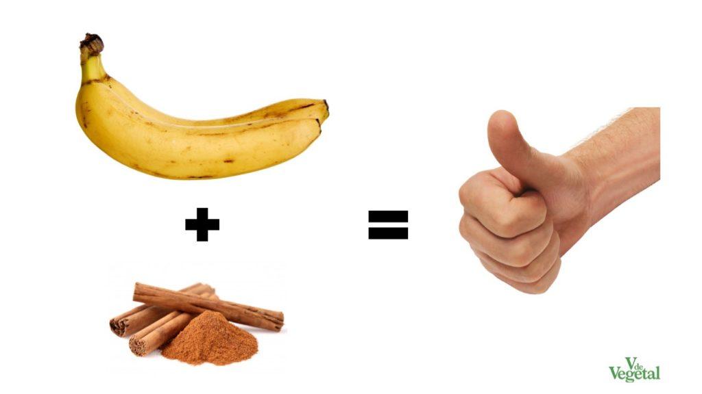 Plátano con canela