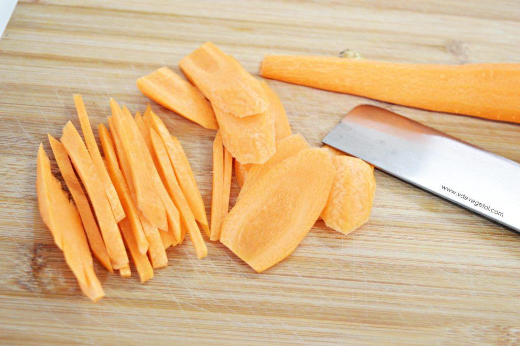 Paleo pizza corte zanahorias