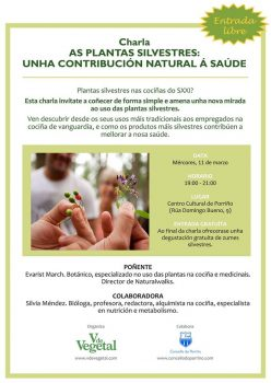 CHARLA_As_plantas_silvestres__unha_contribución_natural_á_saúde_-_marzo_2015